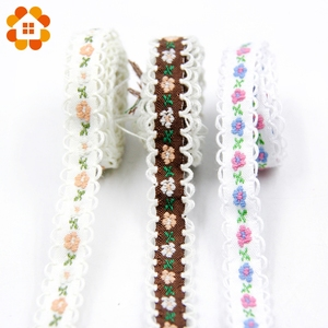 New 5yard/Lot Folk Custom Polyester Cotton Material Lace Ribbon For Home DIY Sewing Decoration Wedding Handmade Decor Supplies