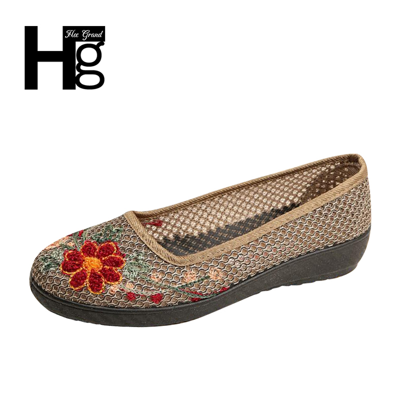 HEE GRAND Plus Size 35-40 Chinese Style Traditional Women's Loafers Unique Manual Flower Cheap Flat Shoes for Woman XWX6010 джинсы quelle b c best connections by heine 32971