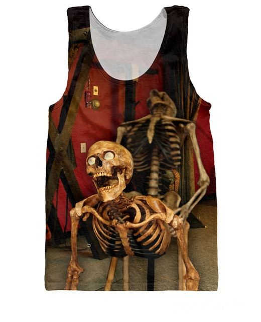 e3949bfe4343c RuiYi 2015 New Arrive Boning sick Tank Top Bone Daddy Fashion Clothing  Funny Skull Vest Sexy tees Jersey Tanks For Wom