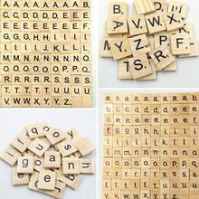 Tile Letter-Block Alphabet English-Letter-Set Crafting Number Scrapbooking Word Wooden