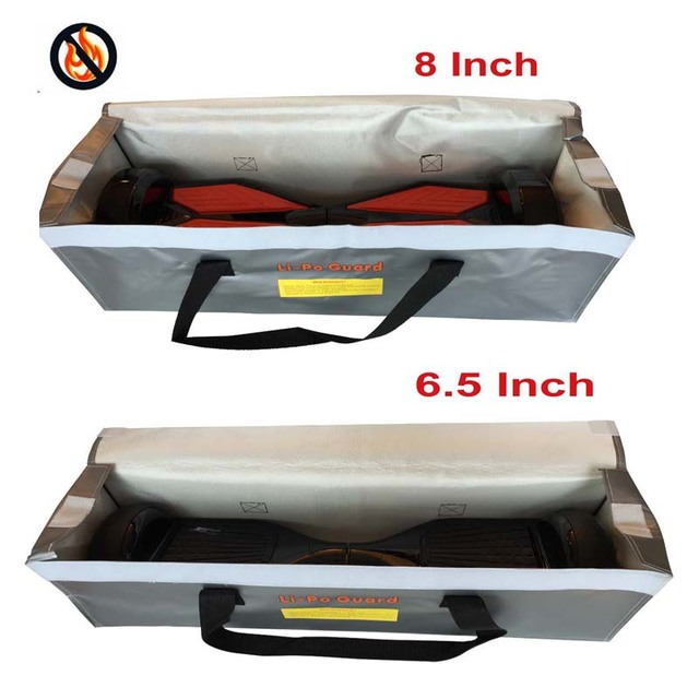 Hovercover Hoverboard Fire Resistant Bag Case Lipo Guard 6 5 8 Inch Self Smart Wheel Skateboard Charging Prevent
