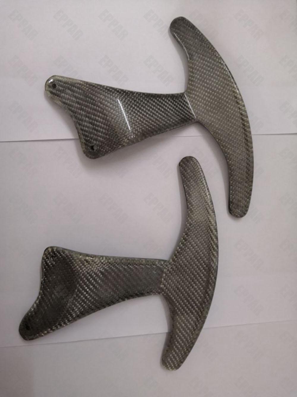 Carbon Fiber Stuurwiel Shift Peddels Set voor 2008-2016 Maserati GT Gran Turismo