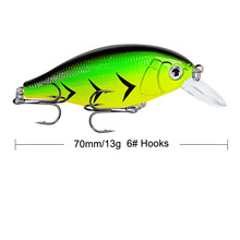 1Pcs 7cm 13g Fishing Lures Hard Bait Minnow Fishing Lure Bass Crankbait Swimbait Trout Crank Baits with 6# hooks Tackle new 1pc 8 segment minnow swimbait lures crank bait baits hard bait fishing lures random color