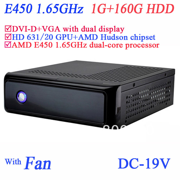 Good Htpc Itx With Amd E450 1 65ghz Dual Core Secc Chassis Dvi D Vga Dual Display 1g Ram 160g Hdd Windows Or Linux Installed Htpc Itx Itx Chassisitx Amd Aliexpress