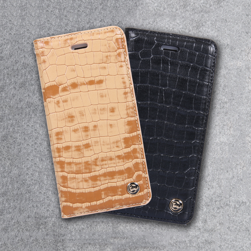 Luxury Leather Crocodile Pattern Case for Apple iPhone 6 6s 7 8 Plus Flip Card Stand Cover for Samsung Galaxy S8 Plus Phone Case