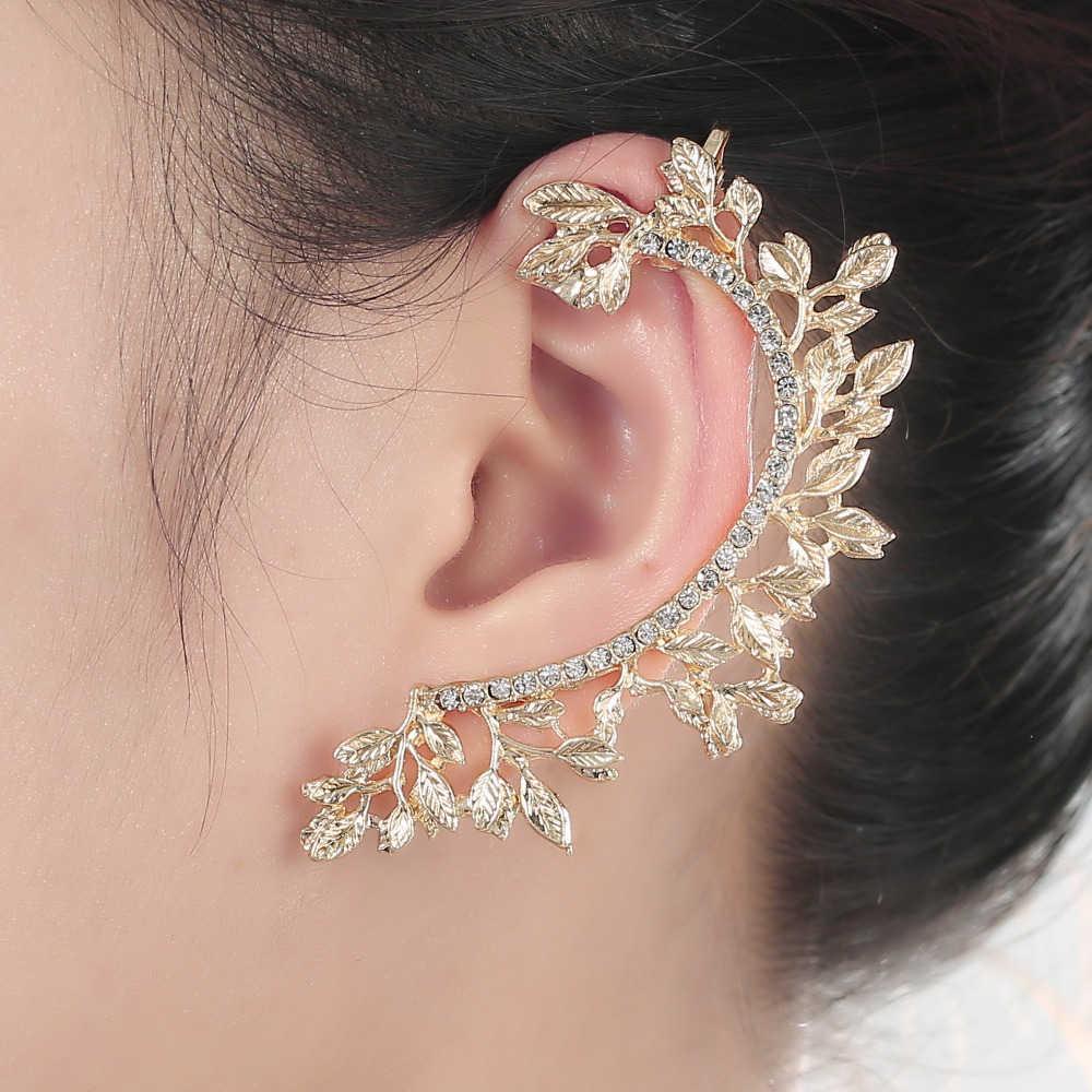crystal ear cuff earrings fashion products high wrap