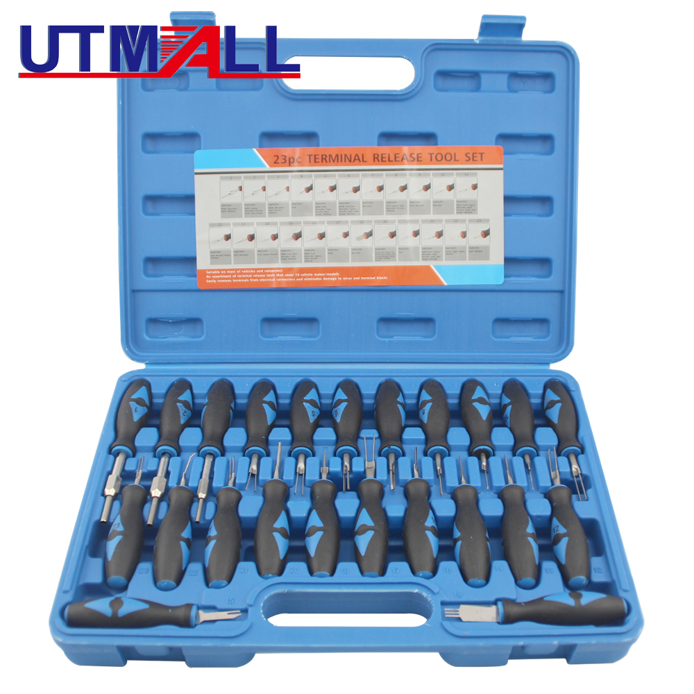 23Pcs Universal Automotive Terminal Release Removal Remover Tool Kit Car  Electrical Wiring Crimp Connector Pin Extractor Kit