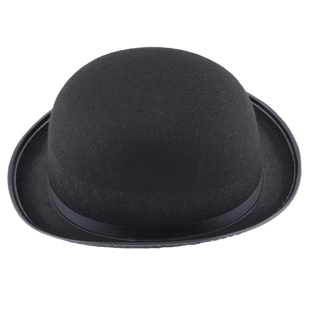 2017 New Casual Mens Black Brim Flanging Hat Boys Halloween Magician ... 56cae9e7883