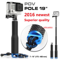 GoPro-Palo extensible de aluminio, monopié telescópico de mano para Go Pro Hero Sj Cam Xaomi Xiomi Yi Gopole, accesorios para cámara