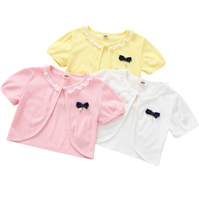 Jacket Baby-Girls Cardigan Toddler Summer Children 6-9 12 Thin RKC194004 Shawl Beach