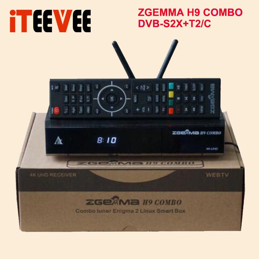 Europejski gorąca sprzedaż 4K UHD ZGEMMA H9 COMBO system operacyjny Linux 2 * WiFi wewnętrznego 1 * Ci Plus DVB S2X + T2/C podwójne tunery w Satelitarny odbiornik TV od Elektronika użytkowa na  Grupa 1