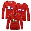New 2016 Family Matching Outfits Men's Women Clothing Long Sleeve T shirts Cotton Letter Dad Mom Baby Family T-shirts More Color