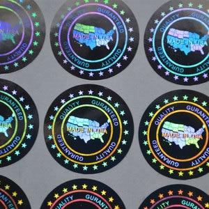 Image 2 - Anti sahte Hologram lazer holografik yapışkan etiket kalite garantili abdde yapılan güvenlik etiketi paket için 20x20mm 2000 adet