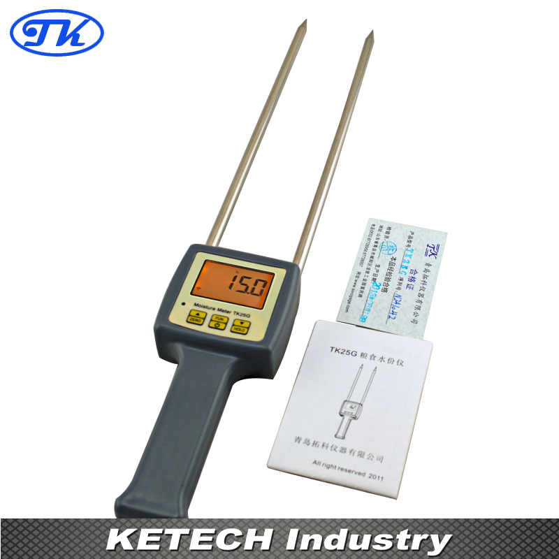 New 25 Kinds Long Probe Grain Moisture Meter for Barley Corn Rice Wheat TK25G barley