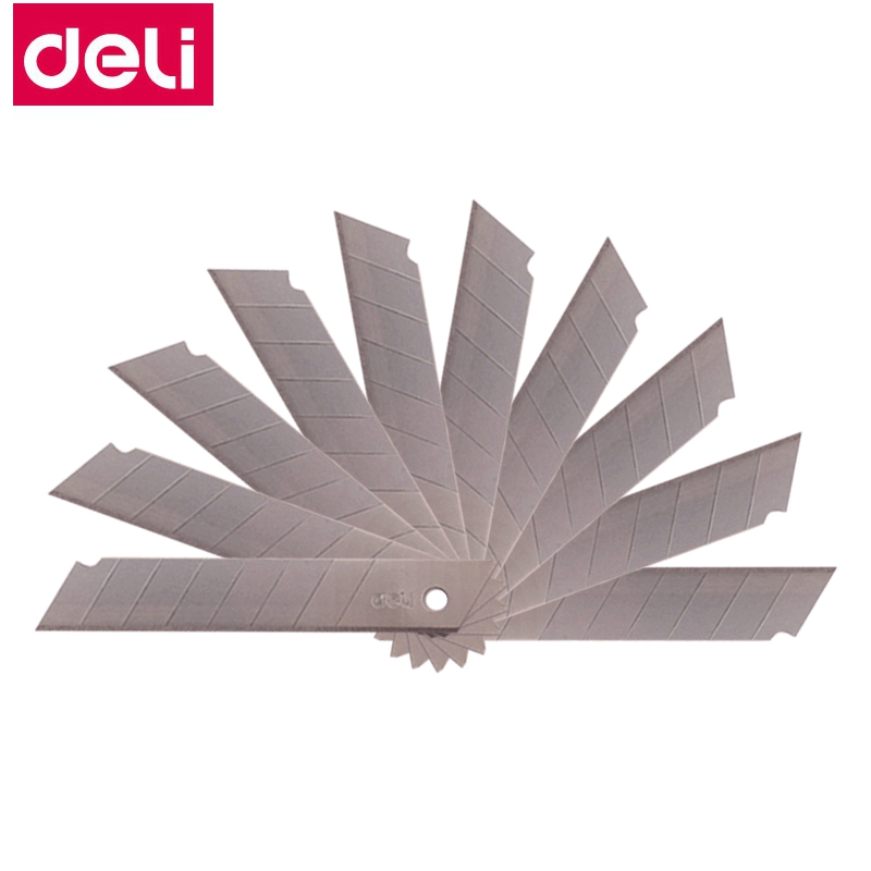 10PCS/LOT Deli 0211 Large Size Utility Knife Blade Replacement Blade Cutter Blade 0.5x18x100mm SK5 Material Wholesale