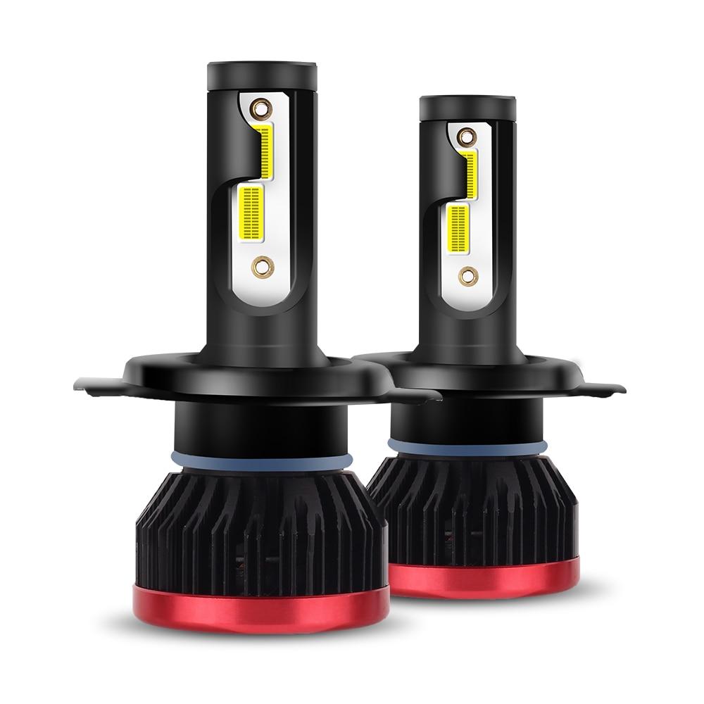 2 pcs LED H7 H4 LED Phare Ampoules 10000LM/PCS 50 w 9005 9006 DOB Puce HB3 HB4 H8 h9 H11 LED Salut lo Phare De Voiture Brouillard Lumière 12 v 24 v