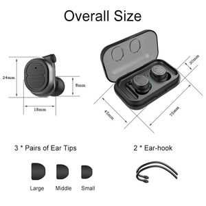 Image 4 - TWS Wireless Bluetooth Earphones Touch Stereo Bluetooth 5.0 Headset Outdoor Sports Fitness Mini Earbuds Single Ears for Phones