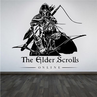 Game Wall Stickers Decorated For Kids Room The Elder Scrolls Online Game Unofficial Wall Art Sticker
