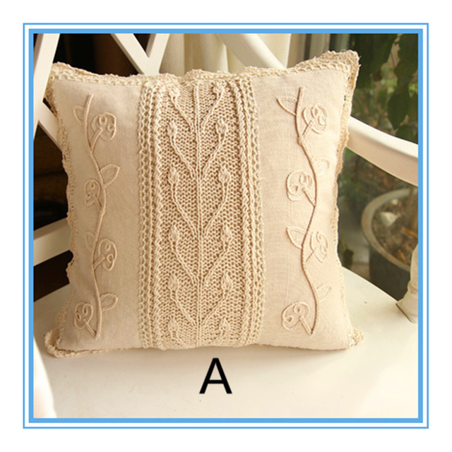 European elegant design 2015 best selling hot cotton crochet lace pillow case with flowers 40x40cm square & Aliexpress.com : Buy European elegant design 2015 best selling hot ... pillowsntoast.com