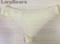 Sexy Woman Transparent Latex Panties G String Rubber Fetish Thong Panty Custom Made