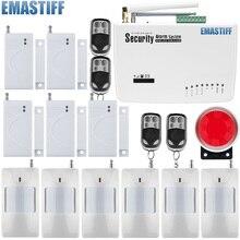 Бесплатная доставка Беспроводной дома аварийной системы безопасности для частоты 900/1800/1900 белый GSM сигнализация 433 мГц