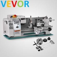 VEVOR 8x16 переменная скорость мини металлический токарный станок Настольный цифровой RPM 750W