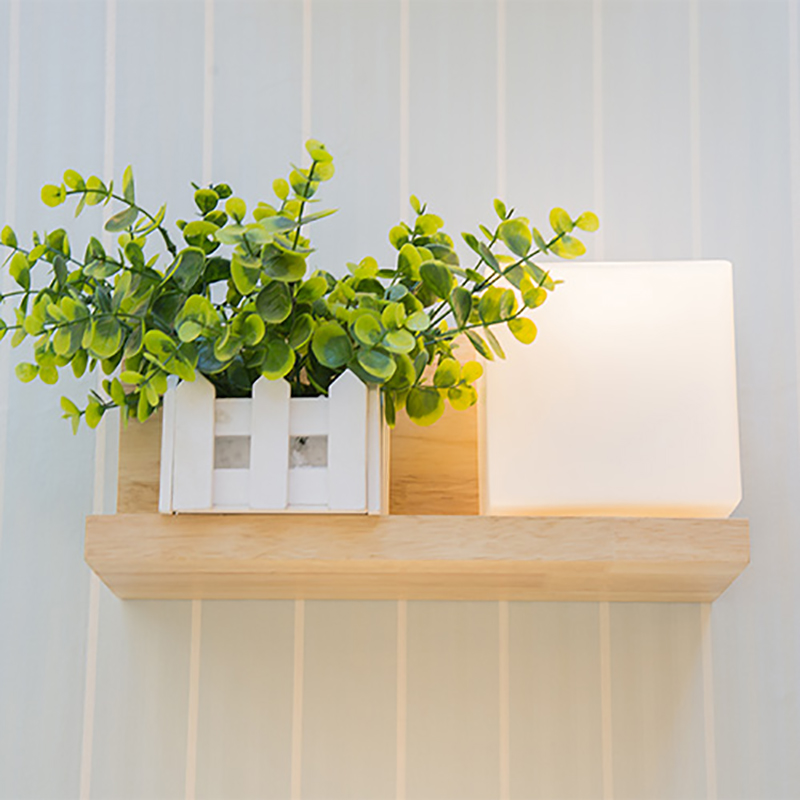 Modern Style Wooden LED Wall Lamp 220V Bed Room Bedside Wall Light Natural Solid Wood+Frosted Glass Foyer Study Home Decoration modern lamp trophy wall lamp wall lamp bed lighting bedside wall lamp