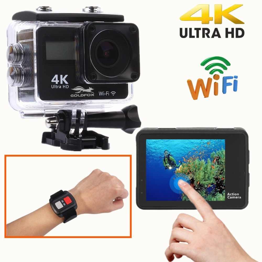 Два ЖК-экрана Экшн-камера Ultra HD 4k 16MP Wi-Fi 1080 P Action Sports Камера Go Водонепроницаемый pro камера нашлемная для велосипеда + пульт Управление