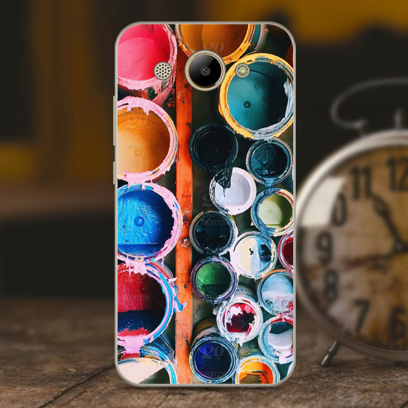 Geruide Soft Silicone TPU Huawei Y3 2017 Case Cover CRO L22 14 Patterned Painted Phone Back Protective Case FOR Huawei Y3 2017 in Phone Bumpers from Cellphones Telecommunications