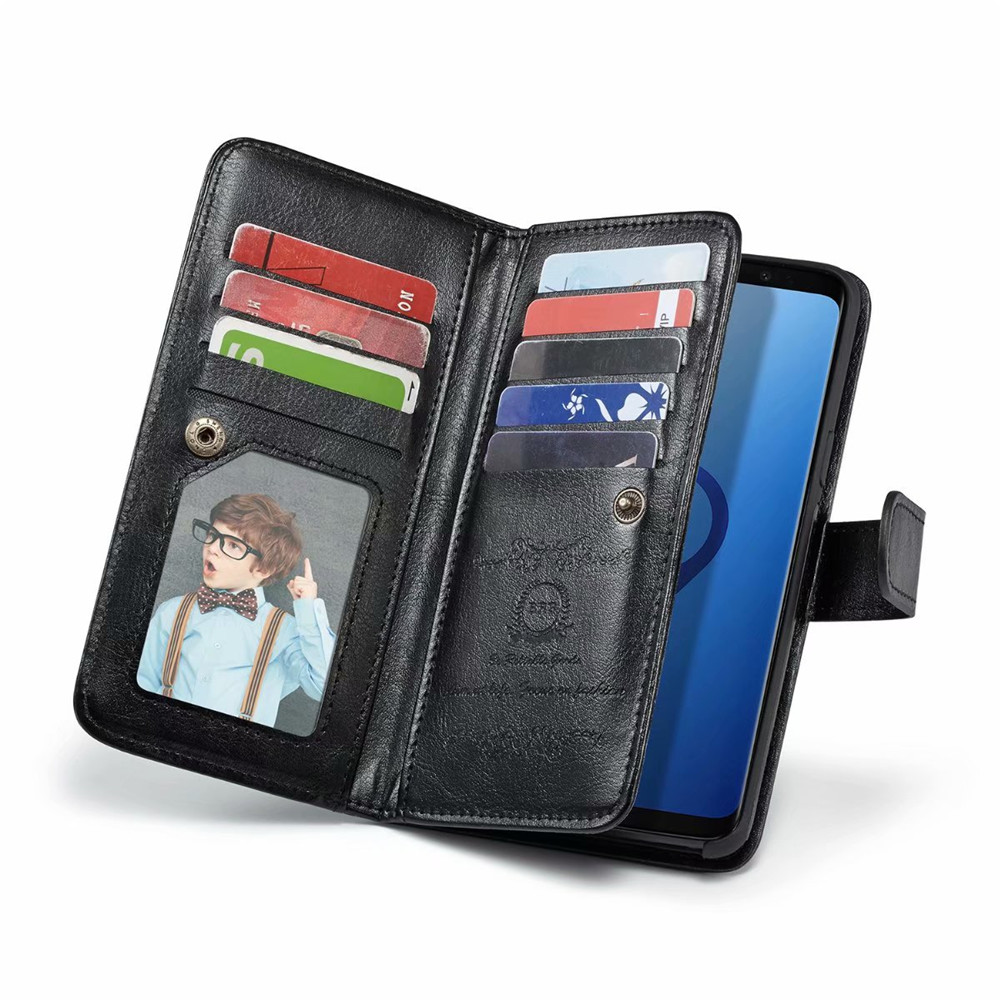 BRG For Samsung S9 S8 Plus Multifunctional Flip Wallet Leather Case For Samsung S9 Cover Magnetic Detachable 2 in 1 9 Cards Slot