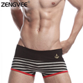 2017 New Men's Navy Style Striped Style Boxers Cotton High Quality Underwear 9 Color Available (Size:S M L XL)