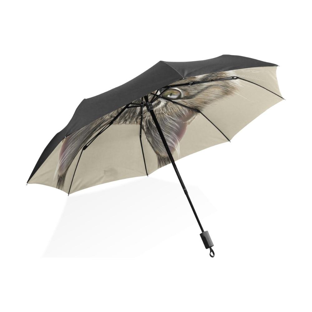 Click here to Buy Now!! Maine Coon Cat Umbrella Plum Rain Women Folding  Umbrellas Anti-UV Fully-Automatic Lovely Rain Sun Umbrellas 058a3c47b8