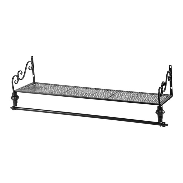wall mounted clothes rail. Wall Mounted Hanging Clothes Rail Garment Display Rack Shelf Storage Holder Shop Home Warehouse Used