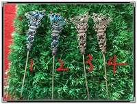 Traditional Engraving Hollow Out 999 Fine Silver Cloisonne Hair Stick Pure Handmade Antique Pinach Artwork Miao