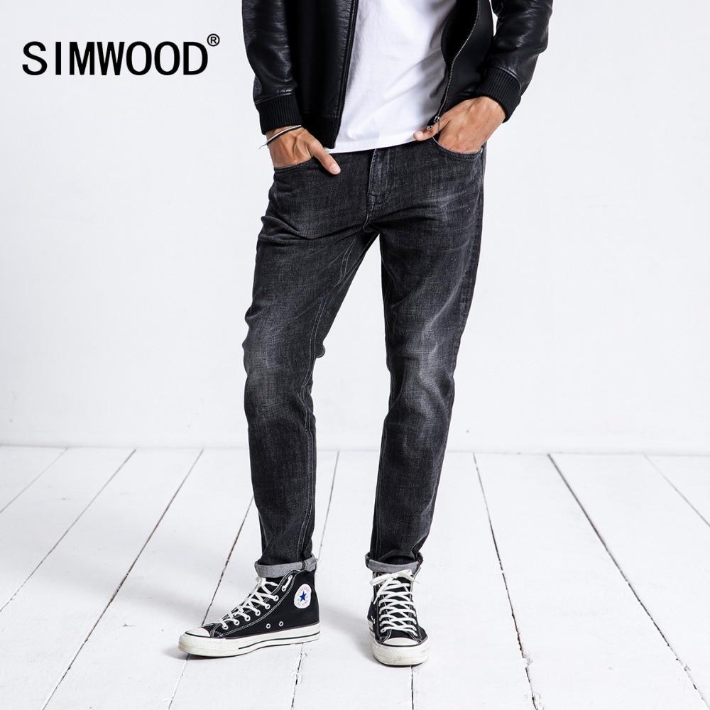 SIMWOOD 2019 Men's   Jeans   Skinny Brand Hot Sale Casual Denim Pants Slim Fashion Plus Size Trousers Free Shipping 180350