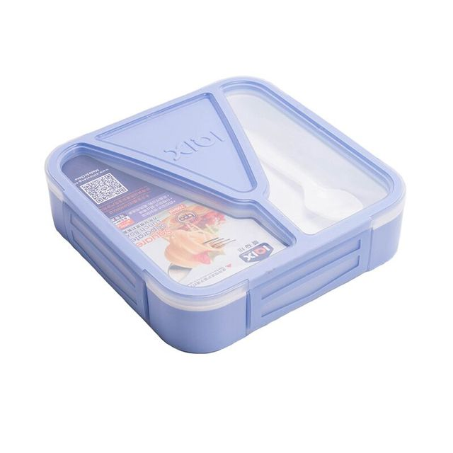 8742847ae7b9 US $10.52 39% OFF|Bento Lunch Box BPA Free Microwavable Lunch Bento Box W/  Spoon Portable Picnic School Sealed Food Storage Container-in Lunch Boxes  ...