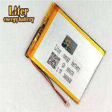 1.0MM 3pin connector 369478 Rechargeable tablet pc 7 inch LiPo 3.7v 3600mAh lithium ion polymer battery(China)