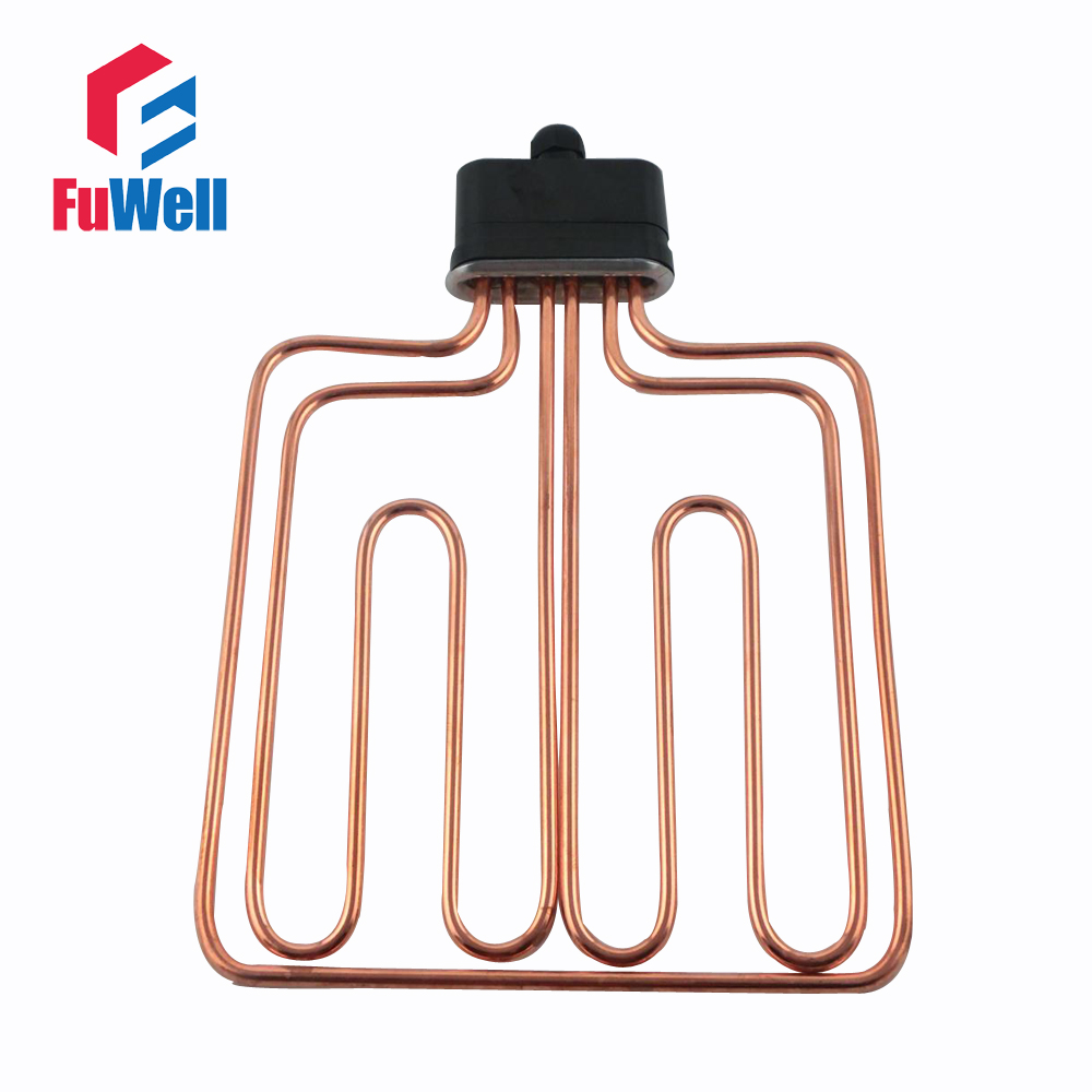 Flat Head Stainless Steel Red Copper Heating Tube Element Electric Water Heater Pipe for Machine Steaming Rice electric water heater thermostat temperature control switch heating tube electric heating tube heating rod for ariston