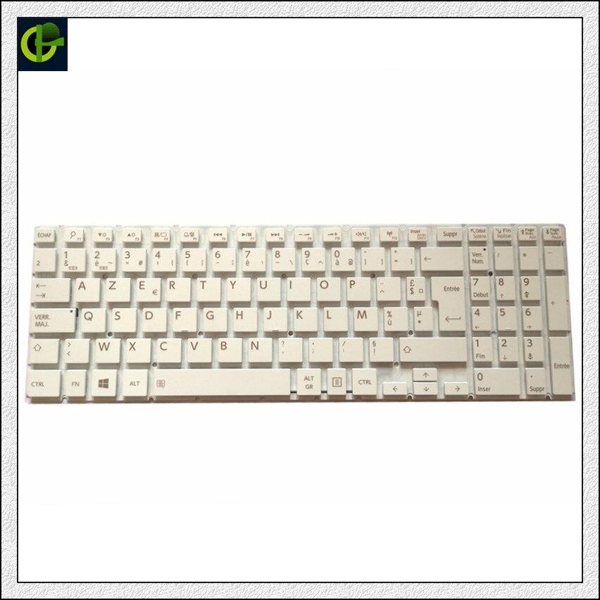 French Azerty Keyboard For Toshiba Satellite C55-C-1LC C55-C-1LD C55-C-1LX C55-C-1HR C55-C-1HX C55-C-1L9 FR White