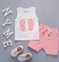 Hot Selling Summer Boy Vest Baby Set 2019 Korean Cotton Clothes Shorts Two Piece Casual Infant Suit QHX029
