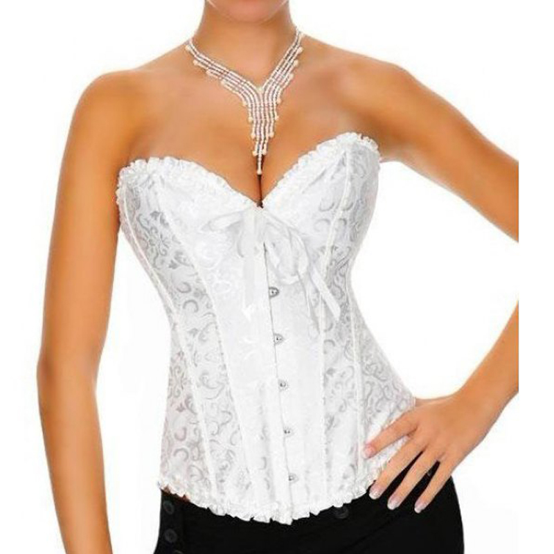 865eaf63696 Woman Sexy Corset Red White Black S 6XL Plus Size Sexy Women Wedding Dress  Bustier Bone Black Lace Bustier Corset Corselet 4157-in Bustiers   Corsets  from ...