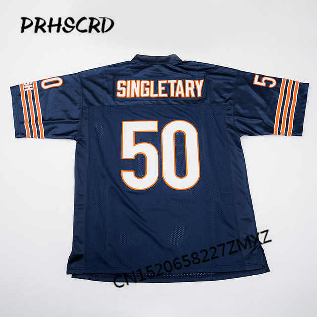 Retro star  50 Mike Singletary Embroidered Throwback Football Jersey ... a7e061d2ef85