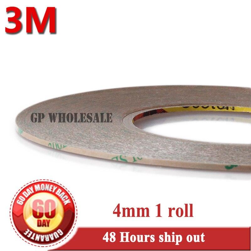 1x 4 мм * 55 м * 0.17 мм 3 м 300LSE Ясно ПЭТ двухсторонней клейкой Водонепроницаемый Клейкие ленты для телефон ЖК-дисплей Дисплей светодиодный сенсорн...