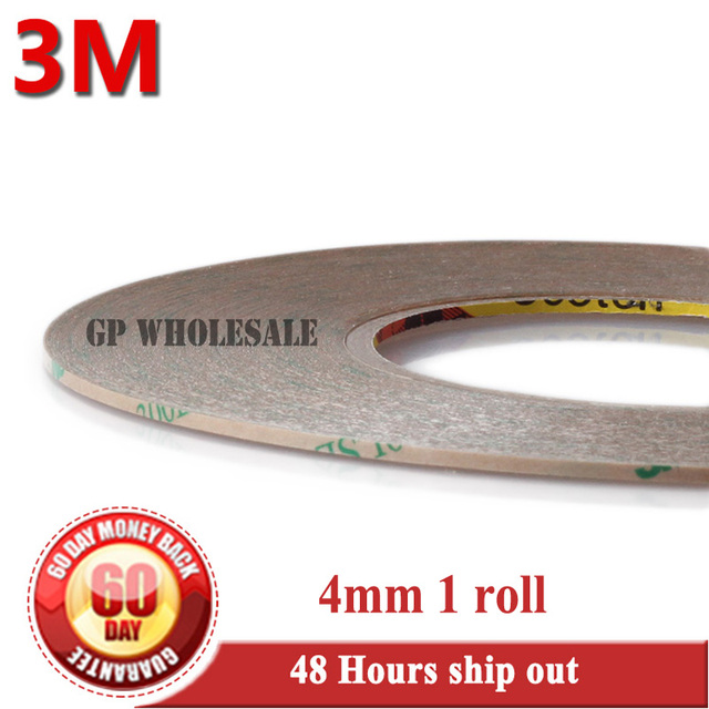 1x 4mm*55M*0.17mm 3M 300LSE Clear PET Double Sided Adhesive Waterproof Tape for Phone LCD Display LED TouchScreen Glass