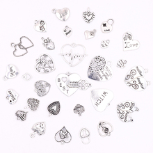 цена All 10pcs Silver Metal Charms Pendants Heart Charms for Jewelry Making DIY Accessories for Necklaces Bracelets Earrings Making онлайн в 2017 году