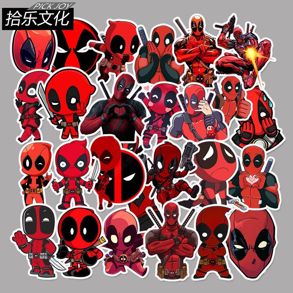 35 Stücke Marvel The Avengers Deadpool Cartoon Aufkleber Für Gepäck Laptop Aufkleber Skateboard Aufkleber Moto Fahrrad Auto Gitarre Aufkleber PüNktliches Timing