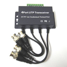 4 channel video balun BNC Male Pigtail 4Ch Passive UTP CCTV Transceiver RJ45 coax adapter transmission