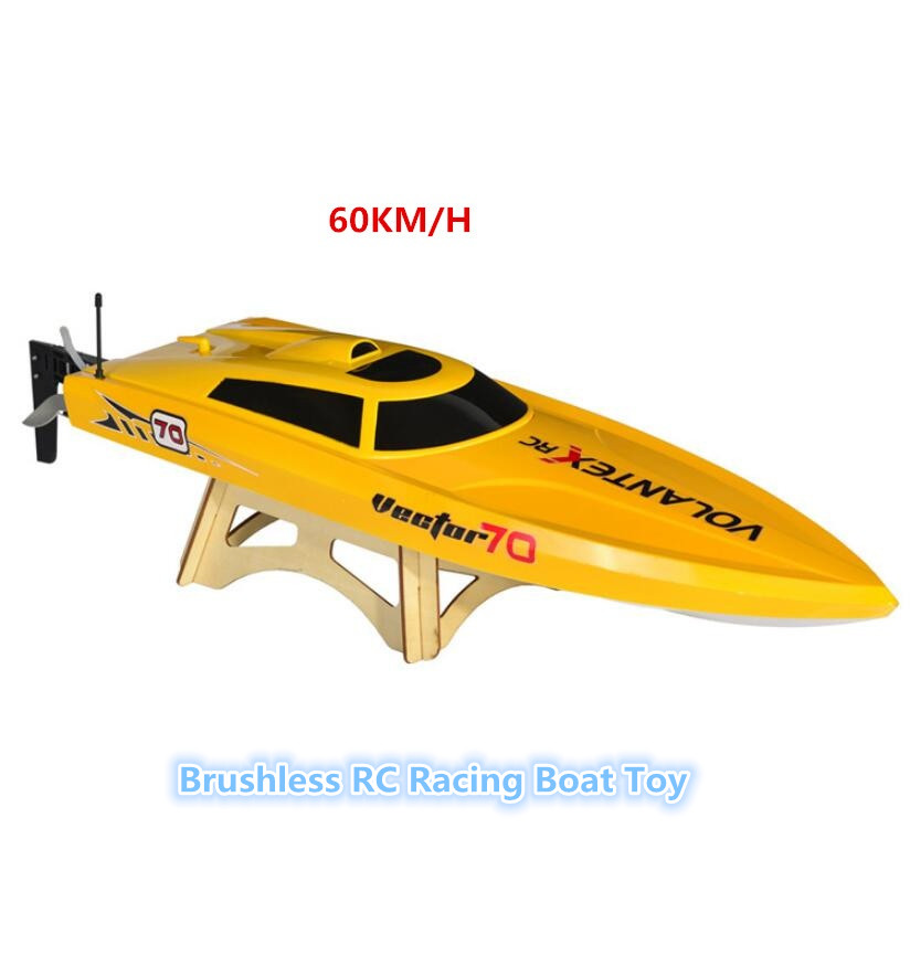 Bateau sans brosse de course RC V792 2.4G transmetteur 60 KM/H bateau de course à grande vitesse bateau électrique hors-bord RC bateau modèle jouets loisirs
