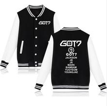 kpop Got7 all members's name winter Denim Jacket warm baseball uniform jackson mark bambam coat
