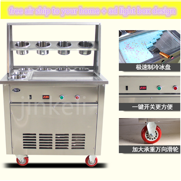 free air ship CE Air Cooling fried ice cream roll machine ice cream machine fried yogurt machine fried ice cream roll machine